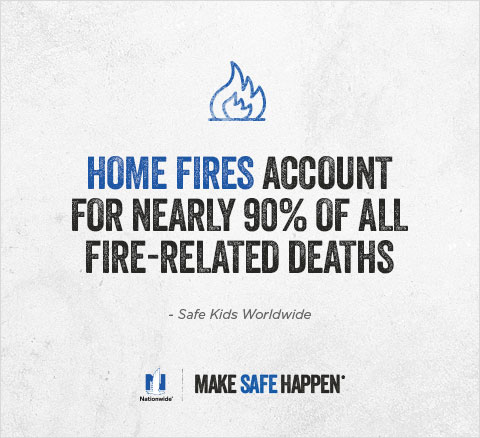 Home Fires Account for Nearly 90% of all Fire-Related Deaths